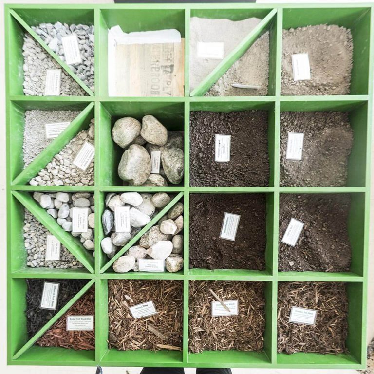 sizes of sand gravel
